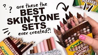 DID CRAYOLA JUST MAKE THE BEST SKIN TONE SET?! | Markers, Pencils, and Crayons!