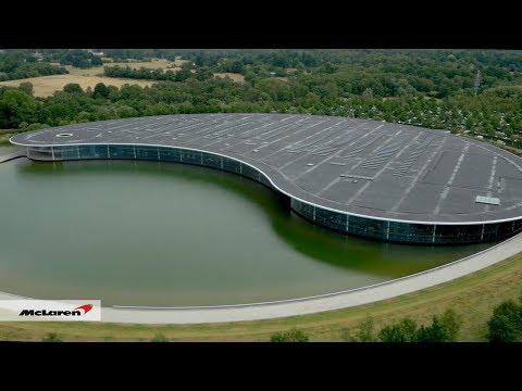McLaren Technology Centre building - Aerial View