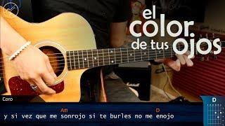 Como tocar el Color de tus Ojos BANDA MS en Guitarra | Tutorial Christianvib