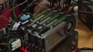 Nvidia GeForce GTX Titan quad SLI demo - Crysis 3 and 3DMark 11