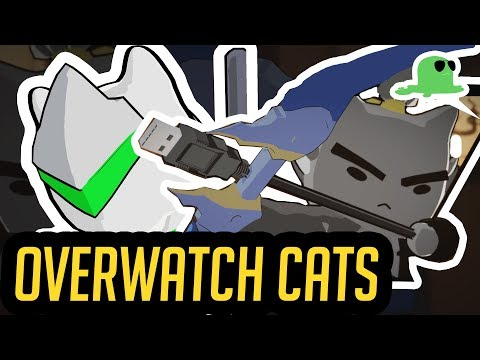 Katsuwatch 'Dragons | Overwatch Animated Short but with CATS