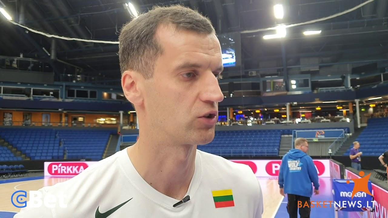 """Benas Matkevičius apie sąlygas rinktinėje: """"Streikuoti neketiname"""""""