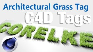 Architectural Grass Tag Tutorial #CINEMA 4D