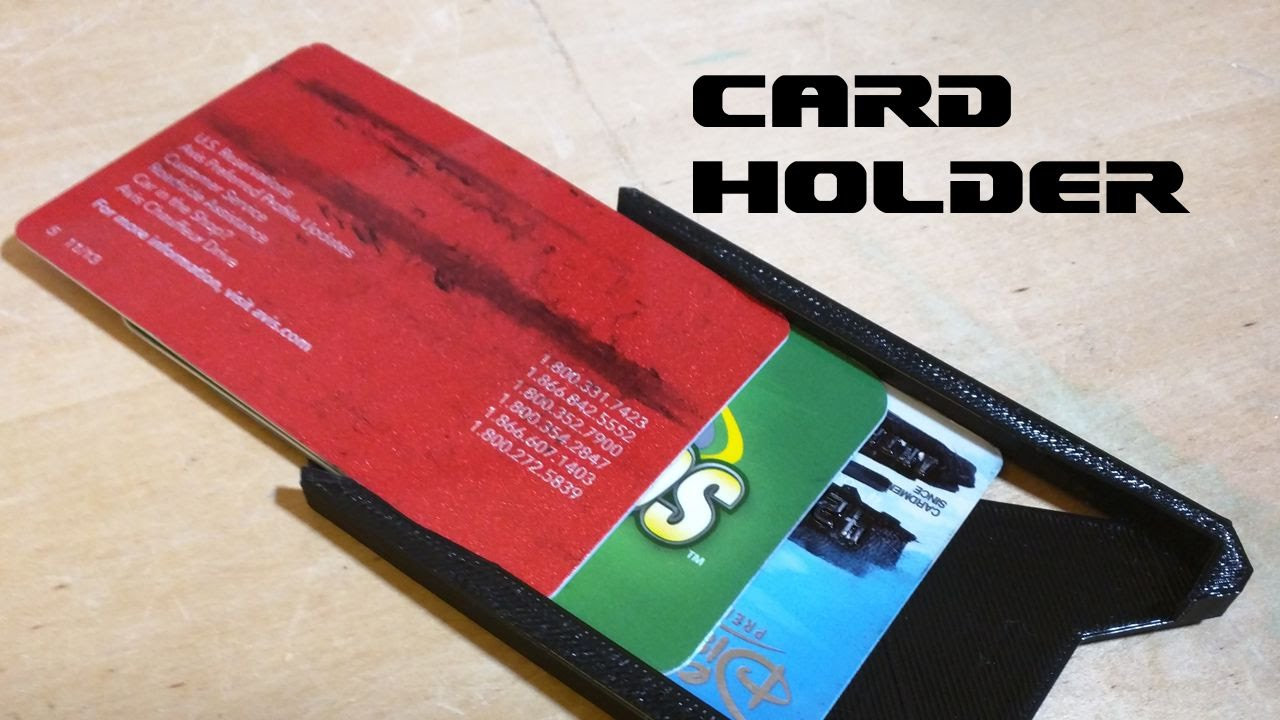 Credit card holder 3d printed hd youtube reheart Images