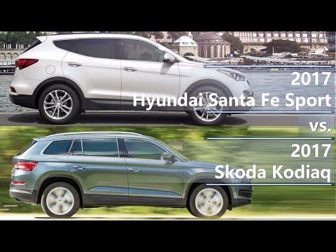 2017 Hyundai Santa Fe vs 2017 Skoda Kodiaq (technical comparison)