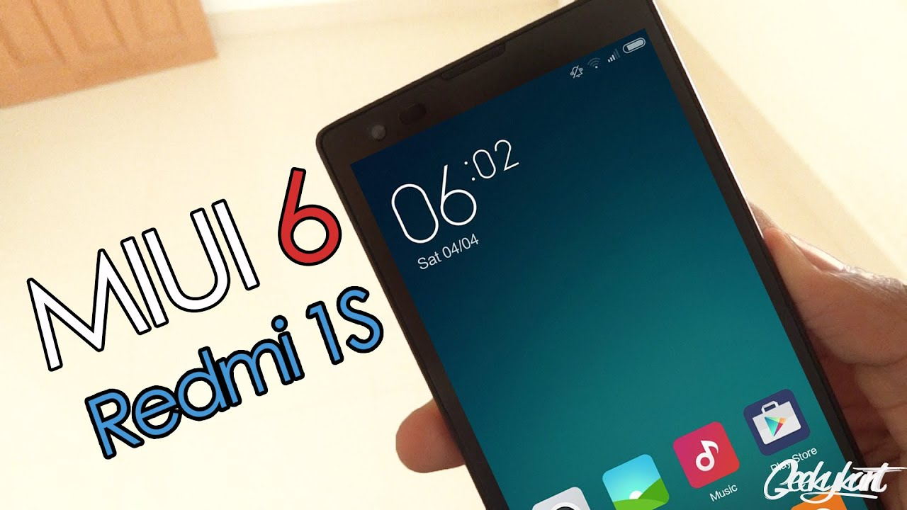MIUI 6 on Xiaomi Redmi 1S (Official) - Global ROM