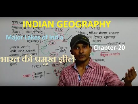 INDIAN GEOGRAPHY:-Major Lakes of India |भारत की प्रमुख झीलें | Chapter-20 FOR ALL GOV JOBS PREP.