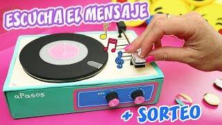 HAZ UN REGALO CON MENSAJE MUSICAL + SORTEOS | Manualidades aPasos