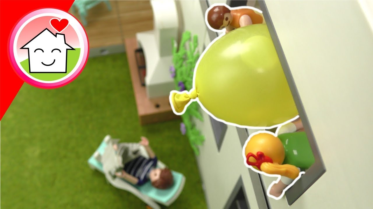 Playmobil Familie Hauser - Der Riesen Wasserballon - Sommergeschichten mit Anna und Lena