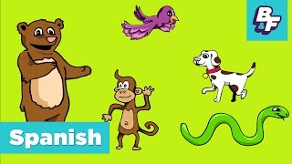 Learn Spanish Animals with BASHO & FRIENDS - Aprende Animales