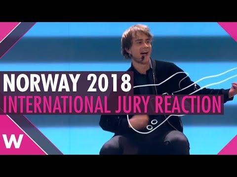 Jury reaction: Alexander Rybak That † s How You Write a Song | Norway Eurovision 2018