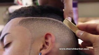 How To: Smooth Top Fade w/ Part | By: Chuka The Barber