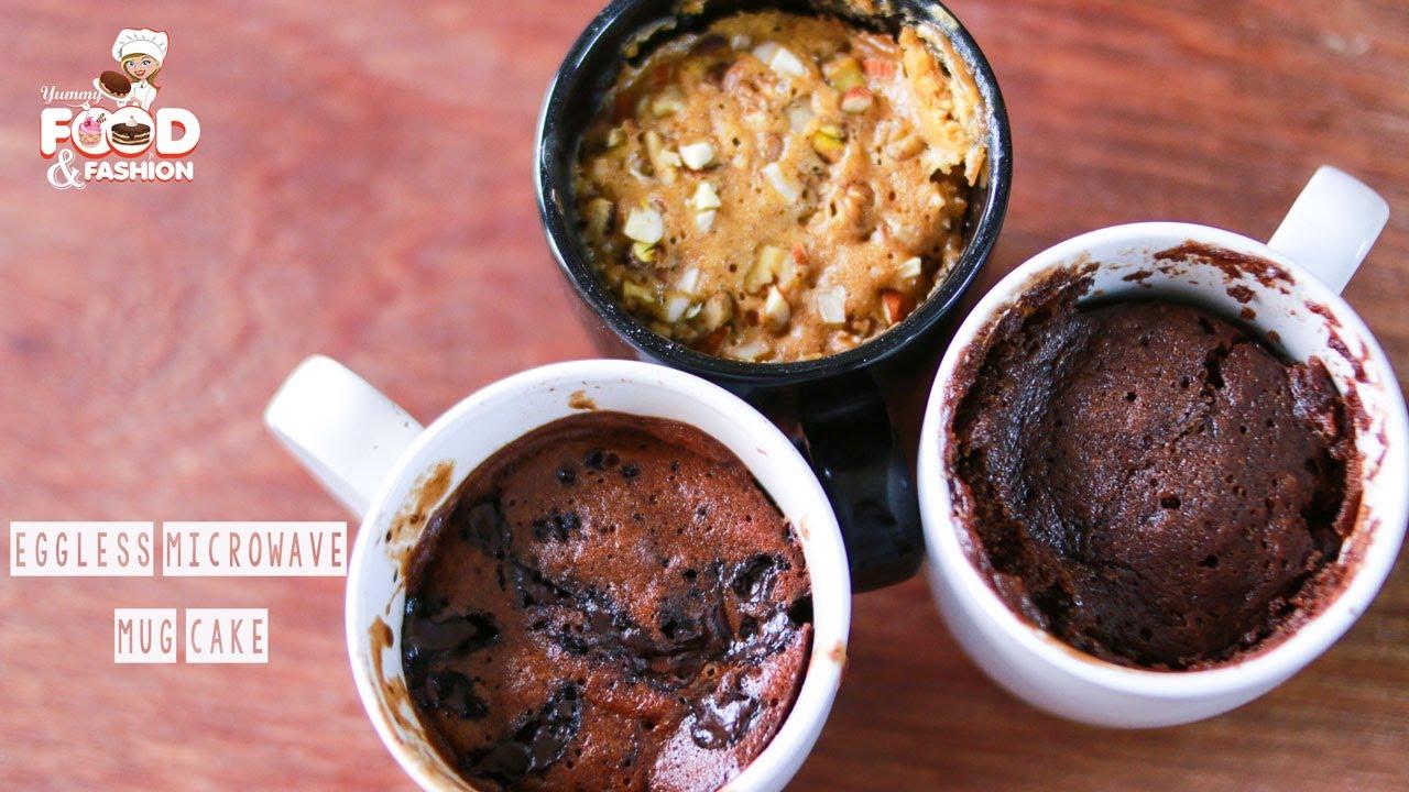 Eggless Mug Cakes    2 Minute Microwave Mug Cakes ...