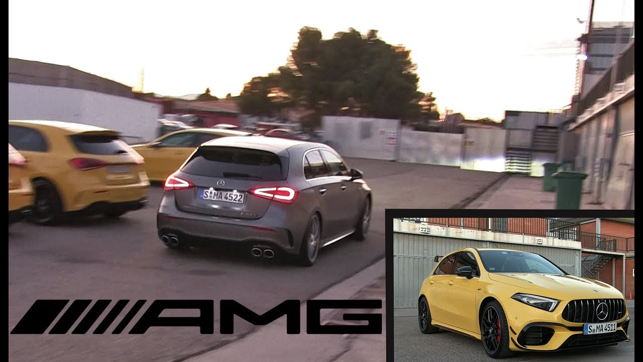 The NEW 2020 Mercedes AMG A45 S and CLA45 S - Sounds, accelerations and more