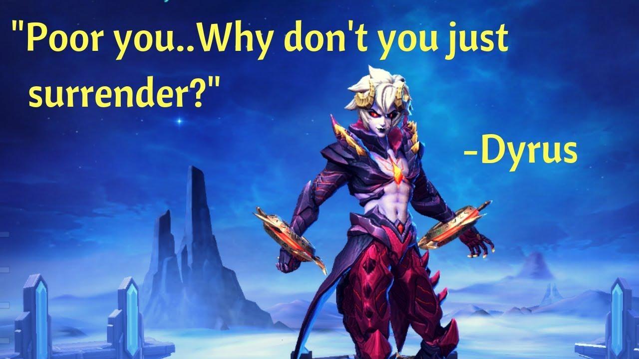 Kata Kata Dyrroth Mobile Legend Dan Artinya - Kumpulan Kata