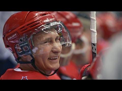 Putin Stars in Exhibition Hockey Game, Scores Eight Goals