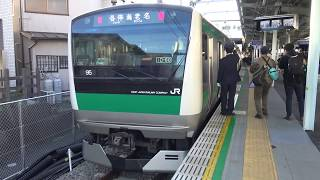 【相鉄JR直通線開通】開通日の西谷駅に到着して撮り鉄の皆さんが集まったことでなかなか出発できない相鉄新横浜線から直通の埼京線E233系