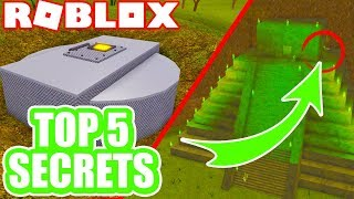 TOP 5 *SECRET* EASTER EGGS in ROBLOX Vehicle Simulator!
