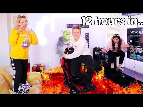 LAST TO TOUCH THE FLOOR WINS $10,000 CHALLENGE! the floor is lava!