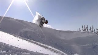 Sled Quebec Extreme 28, 1, 2 Mars Deep Powder Snowmobile Hors-piste Side Hill