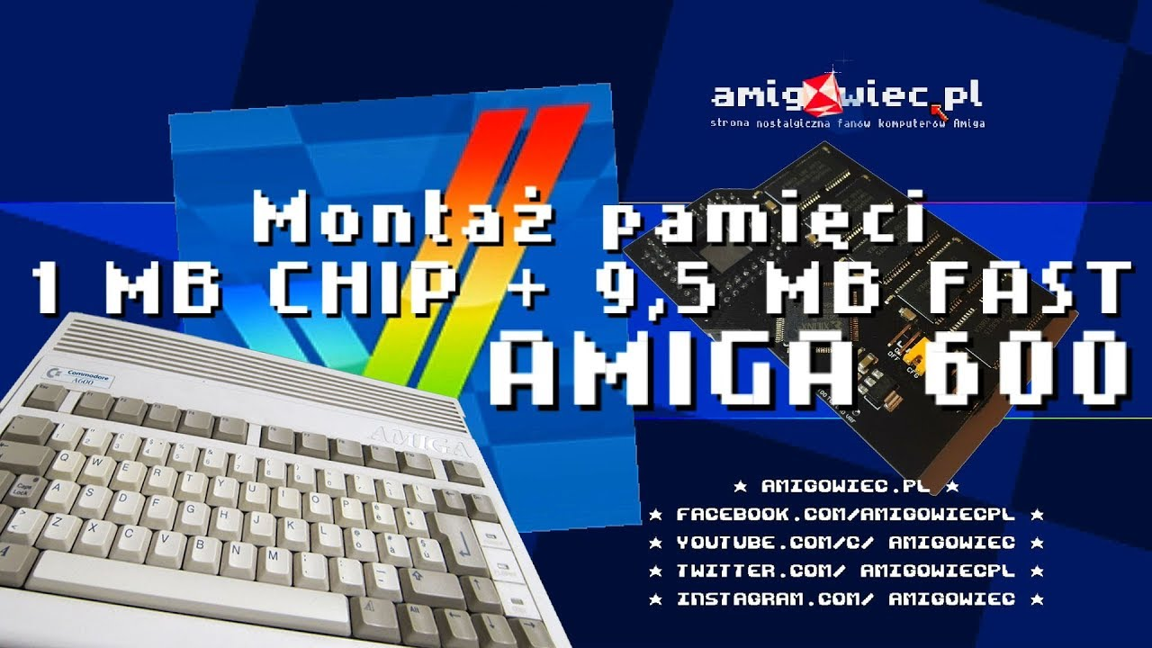 A6095 9.5MB FAST RAM Memory Expansion Amiga 600