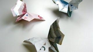 Repeat youtube video DIY Origami Geldschein Schmetterling