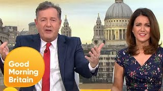 Piers Morgan Vows to Go Vegan for One Week if GMB Win and NTA | Good Morning Britain