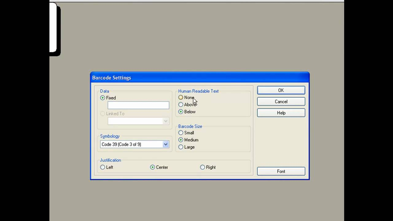 How to print a barcode with Dymo Labelwriter software