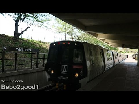 WMATA Metro 7000s & 3000s/1000s Red Line Trains at White Flint (MD)