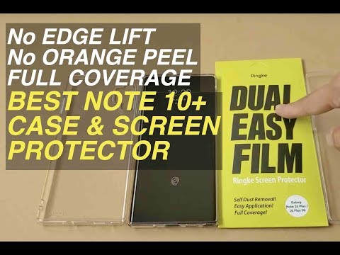 best-galaxy-note-10-plus-screen-protector-thin-case-how-to-install-ringke-easy-film-air-spigen-glass
