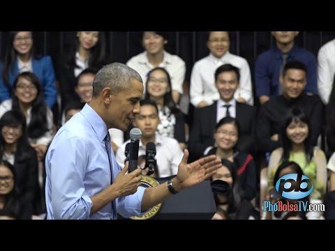 Tổng thống Obama giao lưu, tạo ấn tượng mạnh với giới trẻ Việt Nam