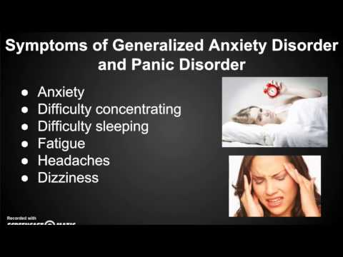 the early signs and symptoms of generalized anxiety disorder