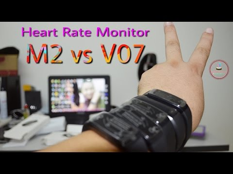 M2 vs V07 Heart rate monitor Smart sport watch compare Blood pressure monitor Fitness HD