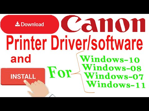 How to download Canon printer Driver