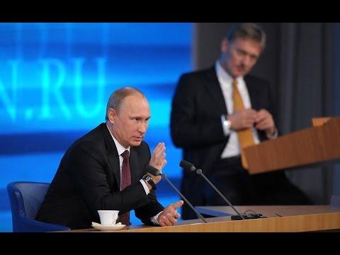 Vladimir Putin. News conference of Vladimir Putin