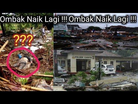 DETIK - DETIK TSUNAMI BANTEN DAN OMBAK NAIK LAGI (VIDEO AMATIR)