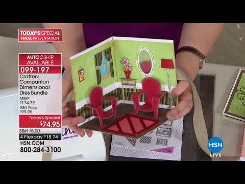 HSN | Crafter's Companion.  http://bit.ly/2XkpfUi
