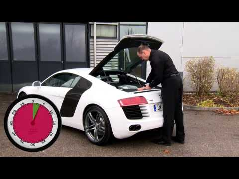 How To Check Engine Oil Level - Audi R8