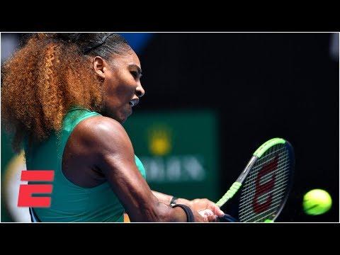 Serena Williams dominates first-round matchup  2019 Australian Open Highlights