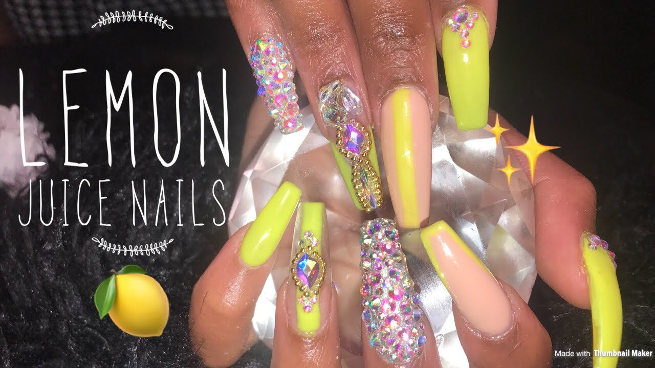 Acrylic Nails Fill Tutorial Summer Coffin