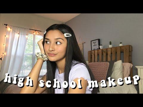 high school makeup routine | senior year