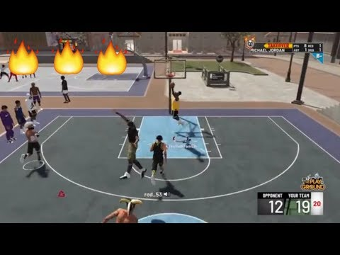 MY NEW BUILD GOING CRAZY AT THE PARK!! (NBA 2K19) NEW LEBRON JAMES BUILD