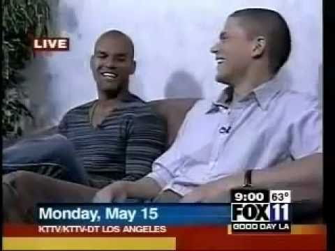Wentworth Miller and Amaury Nolasco on on Fox11 Good Day LA P