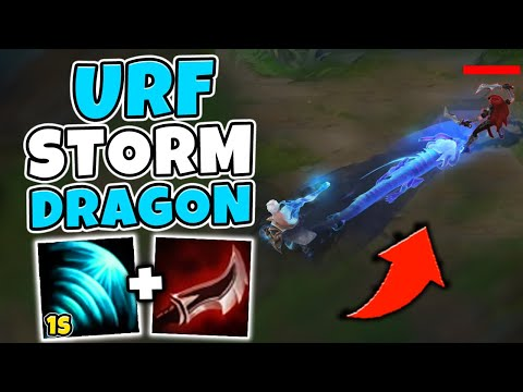 STORM DRAGON LEE SIN IN URF!! THIS SKIN IS SO BEAUTIFUL (DRAGON ONE SHOTS) - League of Legends
