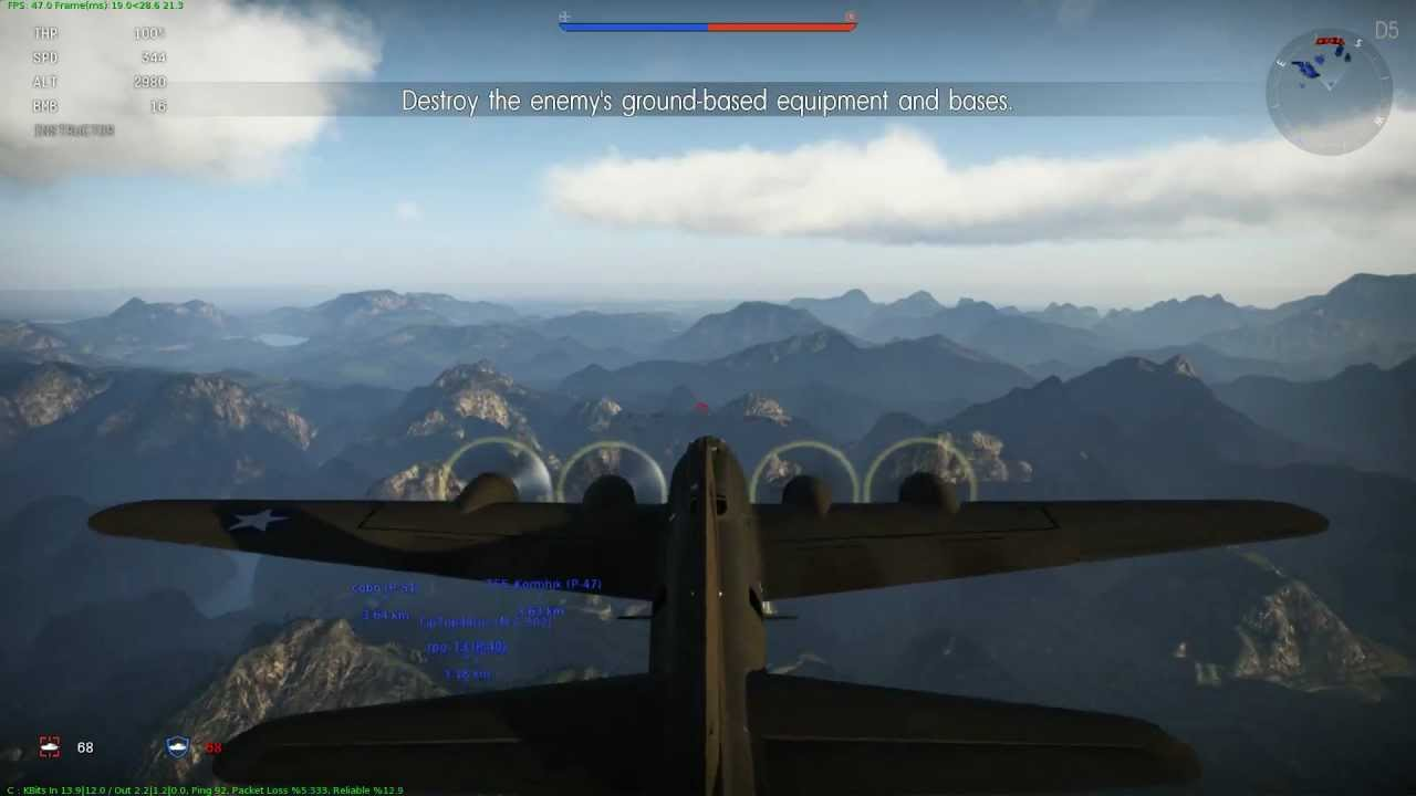 War Thunder B-17 bombing run with comentary - YouTube