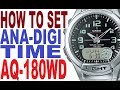 Casio G-Shock GW-A1000-1A manual 5240 how to set time ...