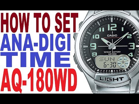 7c2f8f779e0 how to adjust the time on CASIO ILLUMINATOR(AQ-180W)