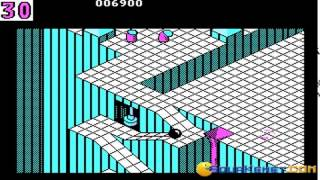 Marble Madness gameplay (PC Game, 1986)