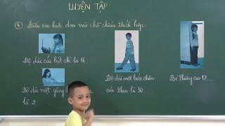 Toán lớp 2: Luyện tập Đề xi mét - Bài 1,2,3,4 trang 8 sgk