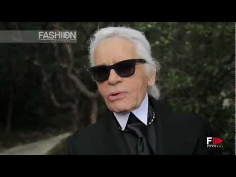 CHANEL Karl Lagerfeld Interview Spring Summer 2013 Paris Haute Couture - Fashion Channel